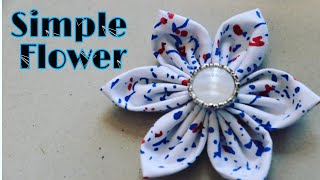 How To Make Fabric Flower-quick And Easy Home Tutorial