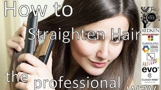 preview picture of video 'How to straighten hair professionally'