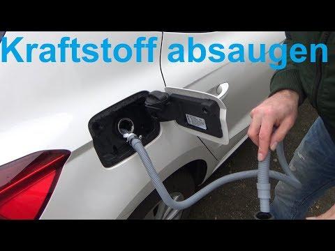 Benzin oder Diesel aus Auto absaugen ohne ein Schluck zu trinken saugen pumpen