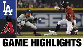 Dodgers vs. D-backs Game Highlights (8/1/21) | MLB Cov ntsiab lus tseem ceeb
