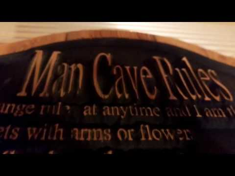 Man Cave Rules Signs : Rules guys wish girls sign wall garage kitchen man cave