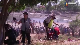 Sute de migranţi din America Centrală ce încercau să pătrundă în Mexic, respinşi cu gaze lacrimogene