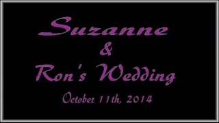 preview picture of video 'Suzanne and Ron's Wedding. October 11th, 2014 in New Brunswick, New Jersey.'