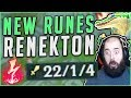 Download Youtube: NEW RUNES ON RENEKTON MAKE HIM SO BROKEN! NEW SEASON 8 RENEKTON GAMEPLAY! - League of Legends