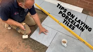 tips on laying porcelain tiles