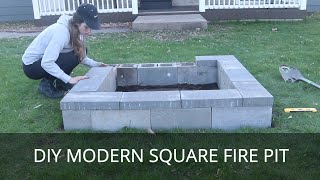 DIY Fire Pit | Modern Square Fire Ring [Step-by-Step Guide]
