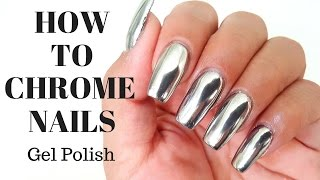 How to CHROME NAILS! no wipe top coat - Tutorial - tips and tricks