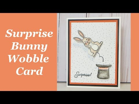 Wobble Bunny Surprise Birthday Card