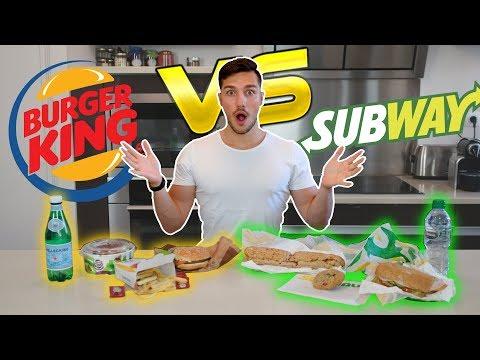 BURGER KING VS SUBWAY : QUI EST LE PLUS HEALTHY ?! | CÉDRIC