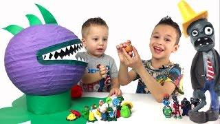 Растения против Зомби игрушки и испытания. Игра Plants vs Zombies
