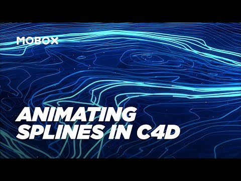 Abstract Spline Animation – Cinema 4D Tutorial