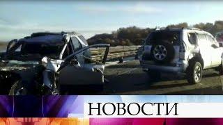 В Нижегородской области пассажирский автобус столкнулся с легковым автомобилем.