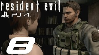 Resident Evil High Quality Mp3 Remaster (PS4) - Chris Walkthrough Part 8 - Saving Rebecca & Killing Yawn