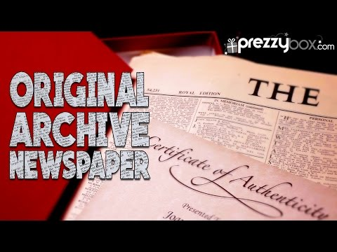 Original Archive Newspaper