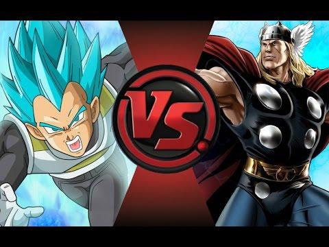 VEGETA vs THOR! Cartoon Fight Club Episode 76