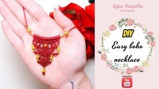 DIY Easy Boho Necklace | DIY Macrame Necklace Tutorial | DIY Macrame Jewelry