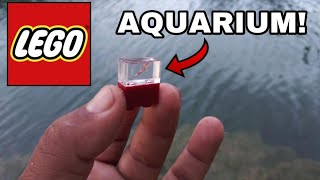 WORLD'S SMALLEST AQUARIUM Fish Tank! LEGO with FLEX SEAL DIY