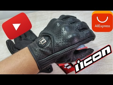 Unboxing Guantes para moto ICON Aliexpress