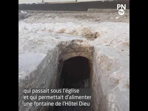 Les vestiges d'une église disparue découverts au pied de la cathédrale de Rouen