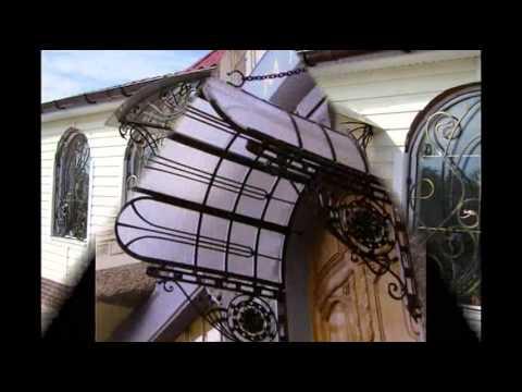 Красивые дверные козырьки