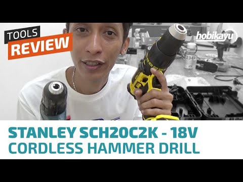 Unboxing & Review Stanley SCH20C2K 18V Cordless Hammer Drill