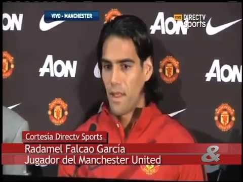 Falcao fue formalmente presentado como jugador del Manchester United