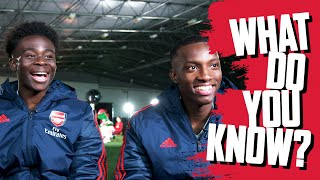 😅THIS IS GREAT | Bukayo Saka vs Eddie Nketiah | What Do You Know?
