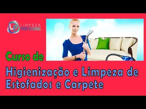 Curso de Higienização e Limpeza de Estofados e Carpetes