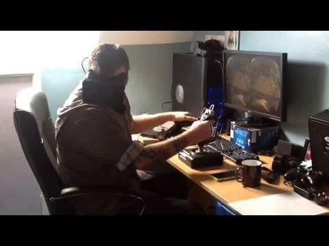 Alpheratz' first test on the Oculus Rift. Playing WarThunder.