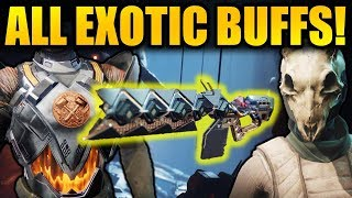 Destiny 2: ALL EXOTIC BUFFS  NERFS in New Update! (Patch 2.0)