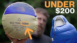 Quality Down Sleeping Bag Under $200 - The North Face Eco Trail Down 20°F Review