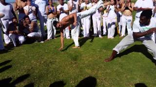 Capoeira Brasil San Diego 2015 Batizado Roda Ocean Beach HIGH ENERGY! CBSD 20150215 Part 2/2 60FPS