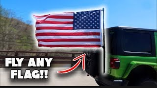 Using a SPEEDPOLE to Fly a Flag on my JEEP!!