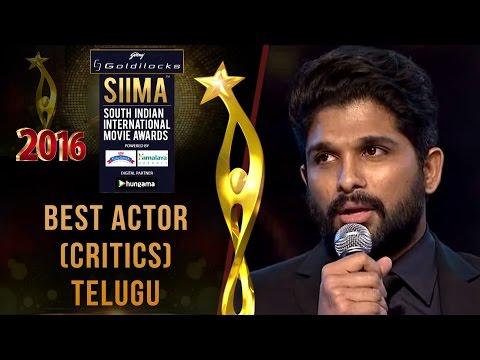 Download SIIMA 2016 Best Actor(Critics) Telugu | Allu Arjun - Rudramadevi HD Mp4 3GP Video and MP3