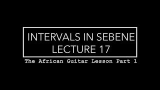 How To Play Congolese Sebene Guitar   Intervals