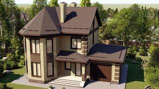 Проект дома 147-E, Площадь дома: 147 м2, Размер дома:  13,1x11 м