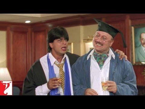 Raj failed in London - Comedy Scene   Shah Rukh Khan   Kajol