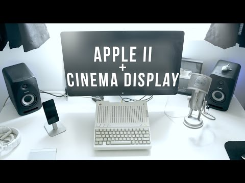 Apple II to Cinema Display - New Tech Old Tech