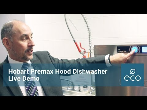 Hobart Premax Hood Dishwasher Demonstration