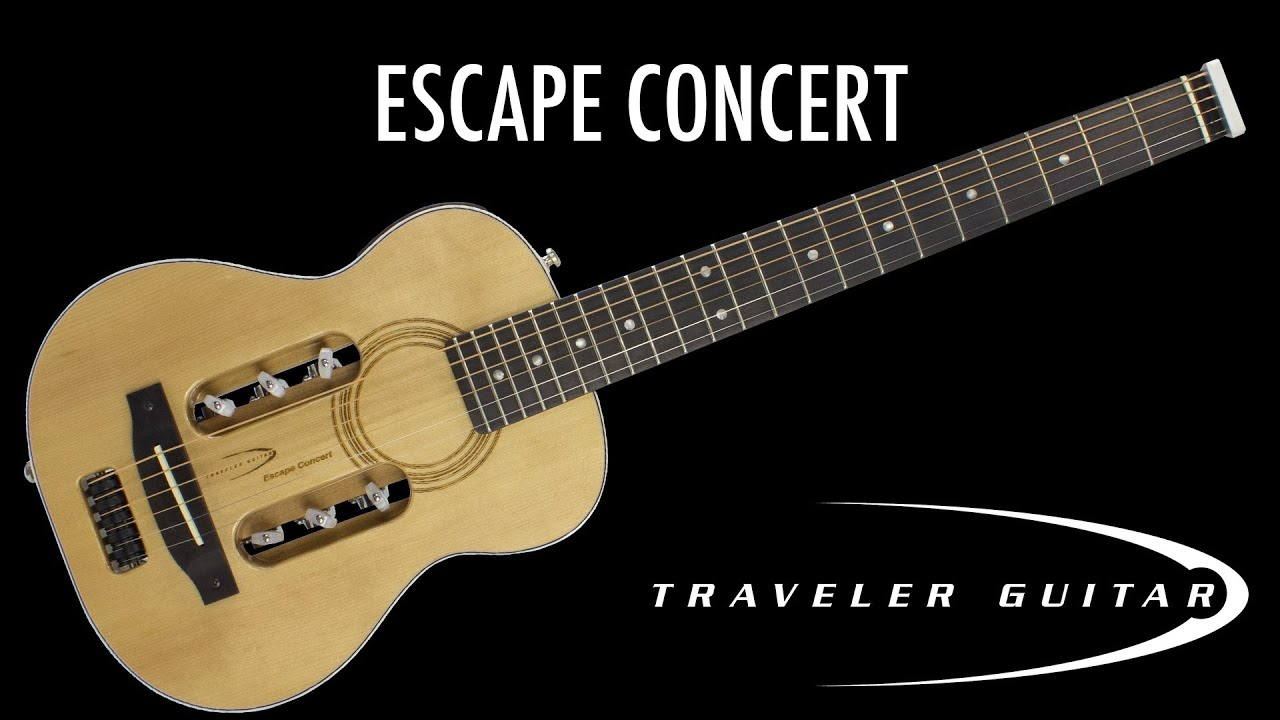 Traveler Guitar Escape Concert Acoustic Guitar Overview and Demo