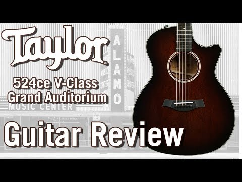 New For 2018 Taylor 524ce with V Class bracing – Acoustic Guitar Review