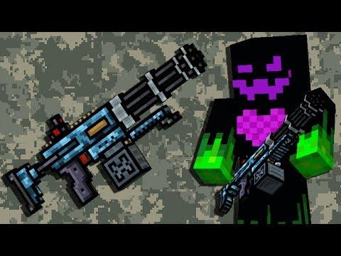 Pixel Gun 3D - Hand Minigun [Gameplay] New Gold Battle Pass Weapon