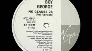 Boy George - No Clause 28 (Beats mix)