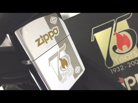 24058 75TH Зажигалка Zippo Commemorative, Polish Chrome