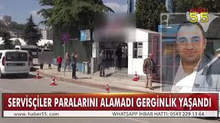 SERVİS ŞOFÖRLERİ ÖDEME ALAMAYINCA OKULU PROTESTO ETTİ