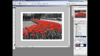 Фотошоп - Создание рамки с помощью маски-слоя.