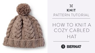 Knit a Cozy Hat with Beautiful Braided Cables | Knitting Pattern Tutorial |