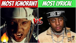 RAPPERS MOST IGNORANT SONG vs MOST LYRICAL SONG!