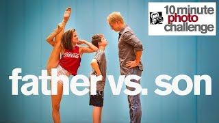 FATHER VS SON PHOTO CHALLENGE WITH EVA IGO (World of Dance)