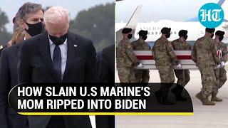 'Joe Biden feckless, dementia-ridden': Martyred US soldier's mother slams President on Kabul attack